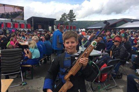 Martin Saxebøl fra Frogn forbedret sin personlige rekord med hele fire poeng under årets Landsskytterstevne.