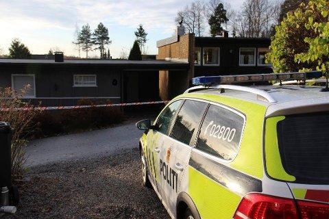 Det var 12. november i fjor en kvinne ble drept i sin bolig på Heer. Foto: Arkiv