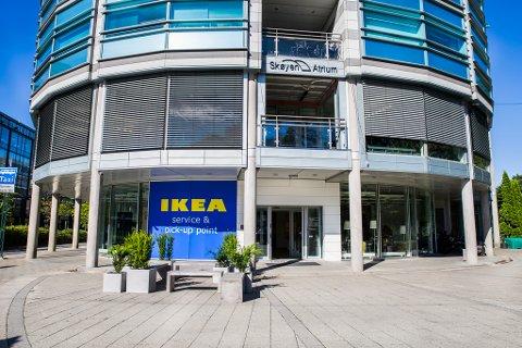 De nye IKEA-lokalene ligger i de gamle lokalene til Møller Bil i Drammensveien 145.