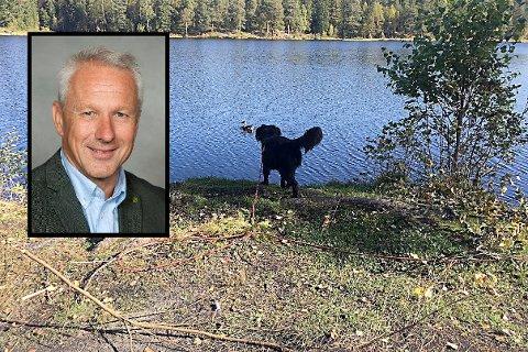 Rådmann Lars Bjerke (innfelt) i Asker ville egentlig hatt fire millioner kroner mer enn det Frogn tilførte konkursboet etter Stiftelsen Follo museum.