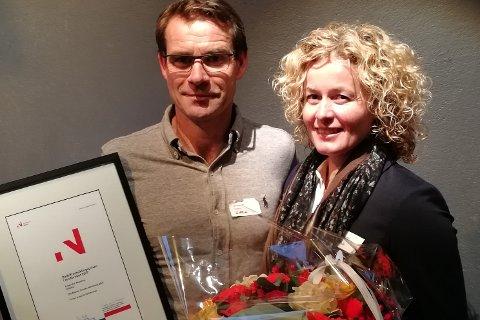 Vant: Det kokte på sosiale medier etter at Ole Tomter og Nina Tomter vant årets bygdeutviklingspris for Akershus fra Innovasjon Norge.