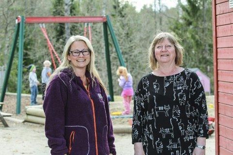 Står opp for Fagerstrands barn: Lena Moe (t.v.) og Siri Askildsen Lindseth vil ha dialog og dugnad om og mot mobbing.Foto: Staale Reier Guttormsen