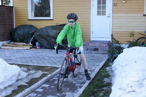 Likte sykling: Anders Hast Løkken fra Drøbak døde av leukemi bare 15 år gammel, i 2011.