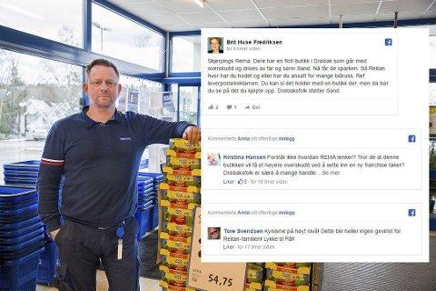 Pål Sand må slutte: De folkelige reaksjonene på Facebook legges merke til i Remas ledelse.  Foto: Tora Lind Berg