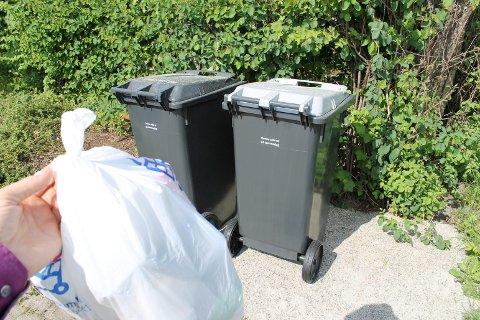 Nytt: Fra september-måned skal matavfallet i egen grønn pose i restavfallet. Plastavfall skal også rett i restavfallsdunken.Arkivfoto
