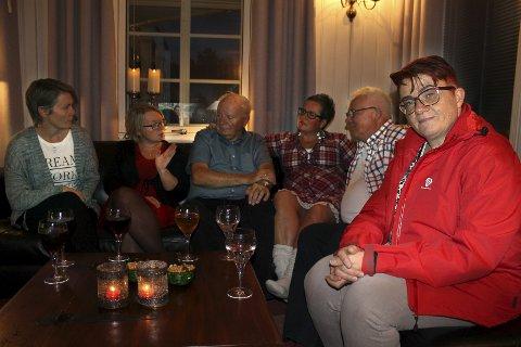 OPTIMISTER: Ingen jubel hos Rita Hirsum Lystad i Frogn Ap, men det var håp da Amta sjekket stemningen like etter kl. 21.00 mandag.