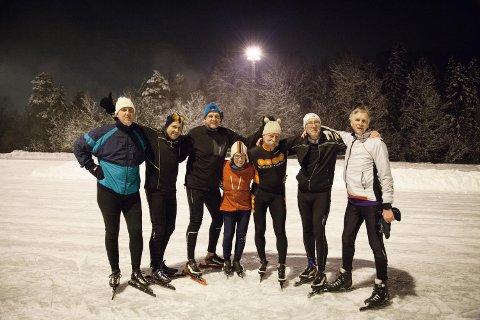 Skøyter: Birger B. Nææss, Geir Ivan Markussen, Rune Sundland, Marit Dalseth Riktor, Lars Petter Ernø, Espen Riktor, Nico Keilman.