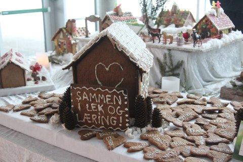 Landsby: Fra fjorårets pepperkakerlandsby i Tangenten. Foto: Henriette Slaatsveen