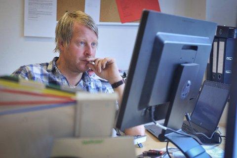BYTTET JOBB: Mattias Mellquist var i Vestby Avis i 2017.