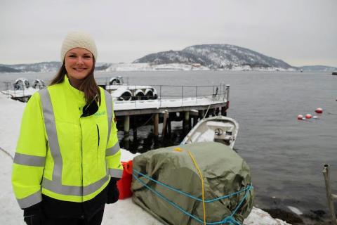 KONTROLL: Prosjektleder  Kristine Mamen Antonsen er på hjemmebane når kabelstrekkingen starter i dag, onsdag. FOTO: Ole Jonny Johansen