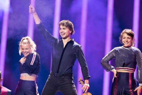 Lisboa, Portugal 20180511. Alexander Rybak etter fredagens første finaleprøve i Lisboa under Eurovision Song Contest. Foto: Terje Bendiksby / NTB scanpix