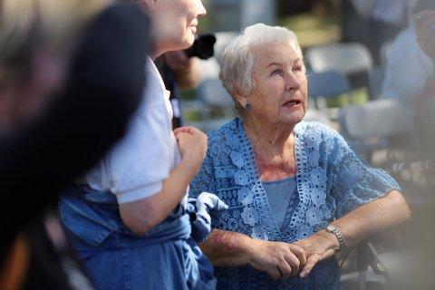 Sterk opplevelse: Hanna-Maria Sandberg var til stede da minnelunden åpnet i Badeparken 7. juni.