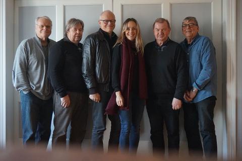 Løs Snipp og Jannike Kruse: Fra v. Philip Kruse, Reidar Myhre, Bjørn Kruse, Jannike Kruse, Rune Tollefsen og Freddy Hoel Nilsen.