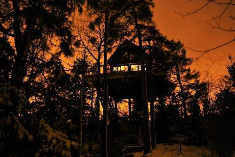 Hytta som har navnet Haukeredet. FOTO: Rune Sørensen