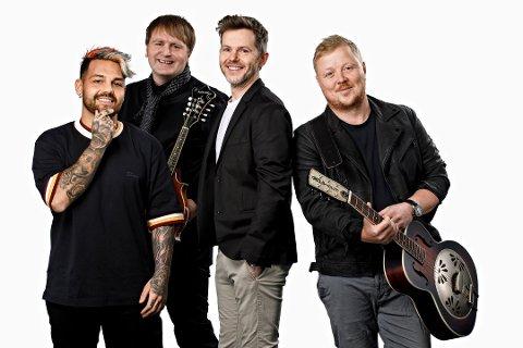 Alejandro Fuentes, Askil Holm, Espen Lind og Kurt Nilsen skal spille på årets Drøbakfestival. Foto: Kilian Munch