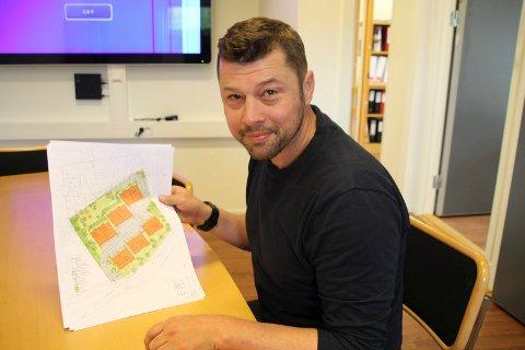NYTT PROSJEKT: Richard Slåke i Slåke Invest AS er i gang med et nytt boligprosjekt.