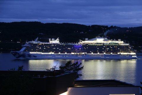 """""""Regal Princess"""" seiler flere ganger i sommer, og har med seg 4.250 passasjerer."""