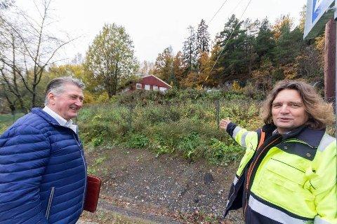 VENTER: Utbygger er Ove Venøy, mens Arne Rølsåsen(t.h.) er prosjektleder for byggeplanene i Åsveien 35. FOTO: Arkiv