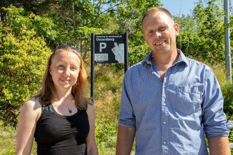 BRUK HUSVIK: Linda Byström og Henrik Mathiesen ønsker å bruke områdene ved Husvik til å arrangere større festivaler.