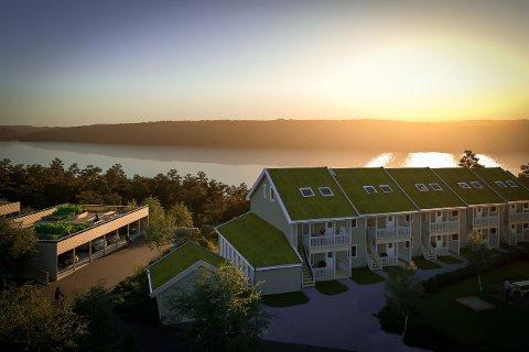 BOMANSHAGEN: Det nye boligfeltet på Nesodden, som står klart i 2021 om alt går etter planen.