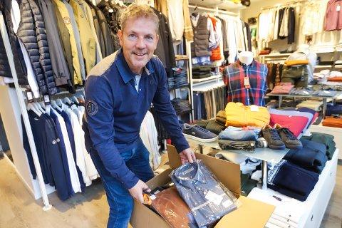 HERREKLÆR: Gunnar Hamborg syns det er spennende med nye merker og nærmer seg nå en miks han syns er optimal.