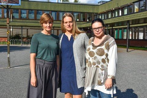 Mari Bjørnsdotter Vinjar, Marie Lund Alveberg og Sonia Elizabeth Arisland i Nesodden SV.