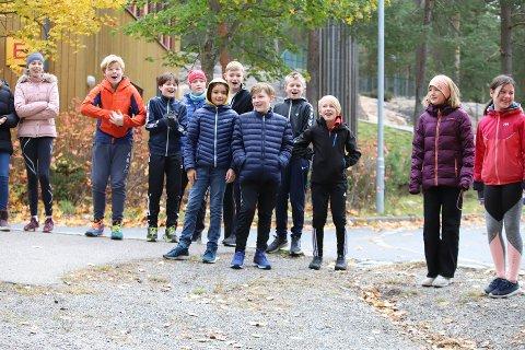 NESTEN 80.000 KRONER: Så mye samlet nesten elevene ved Bjørnemyr skole på Nesodden inn.