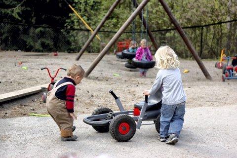 Det er ventet en ny hverdag for barna som vender tilbake til barnehagen mandag. Foto:Arkiv
