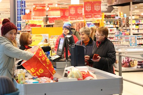 PRISKRIG: Coop har meldt seg på i priskrigen i dagligvarebransjen i disse dager. Her et bilde fra Coop Extra ved Portalen.