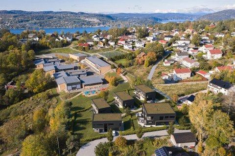 EKEVEIEN 19: Fem hus med til sammen seks boenheter skal bygges i Ekeveien 19. Tegning er laget av Drøbak Arkitektkontor.