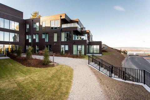 Slik ser boligprosjektet Ildjernåsen på Nesodden ut. Her har Grete Komissar (69) og mannen Steinar Høseggen (70) valgt å flytte.