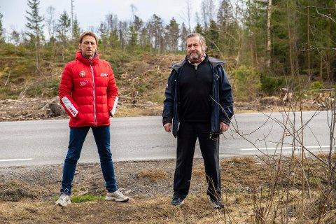 SKRYT: Simen Storrud fra DFI Ski skryter spesielt av Øystein Giertsen fra Frogn Friluftsforum for at finansieringen av løypemaskin nummer to lot seg gjennomføre.