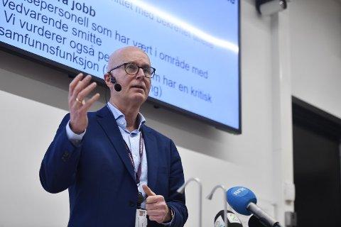 Helsedirektør Bjørn Guldvog kan fortelle en del om koronavaksinen. Foto: Naina Helen Jåma / NTB scanpix