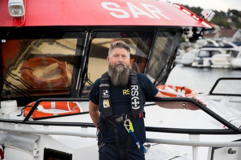 SKIPSFØRER: Pål Abrahamsen fra Drøbak ombord redningsskipet Klaveness Marine sommeren 2018.