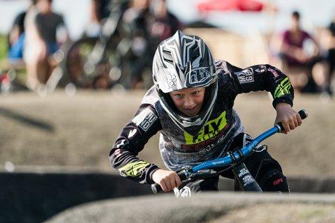KLAR MÅLSETTING: 12 år gamle Nicolai Grip Haglev fra Drøbak har en klar målsetting med satsingen på actionssport: Han vil bli best.