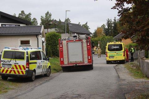 Det var ved 13:40-tiden søndag at to biler ble innblandet i en trafikkulykke på Vinterbro. Foto: Marthe Laurendz Jensen/Østlandets Blad