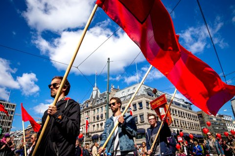 VIKTIG DAG: Arbeidernes dag, 1. mai, er en viktig dag, også fordi hvilken ukedag den faller på «bestemmer» hvor mye fri du får det neste året.  Foto: Erlend Aas (NTB Scanpix)