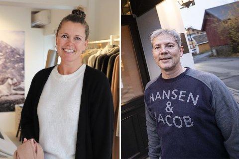 Monica Bergrem på Kashmina og Gunnar Hamborg fra Hamborg forteller at nedstengningen har bydd på utfordringer.