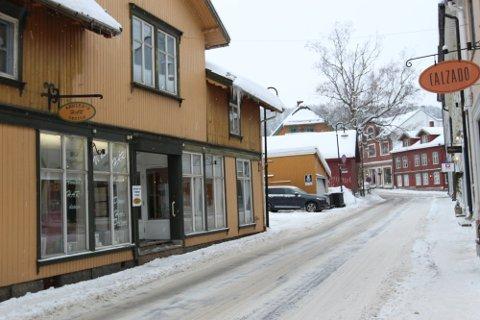 VINTER: Det er vinter i Drøbak sentrum for tiden. Det har også vært en lengre periode med kuldegrader.