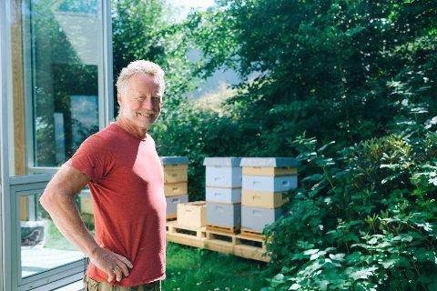 Helleik Rabbe selger Helleiks Honning på Nesodden.