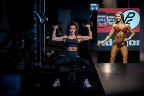 KONKURRANSEFORMEN: Amalie Fossland sier nei til venner. Hun prioriterer heller dedikert trening og en streng matplan for å bli konkurranseklar: – Det er vanskelig å vite når jeg er helt klar for scenen, men en god indikasjon er når musklene synes ordentlig og når det er så lite fett på kroppen at det ikke går an å ta tak i, forklarer hun.