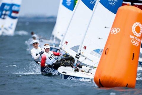 """Det blir noen spennende dager for 27-åringen fra Drøbak. 1. august skal det seiles det som kalles """"medal race"""" eller på norsk finaleseilas."""