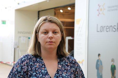 FEILINFORMERT:  Stine Skaug Jensen fikk en beskjed som gjorde at hun ble veldig usikker da hun skulle ta sin første vaksine mot koronaviruset.