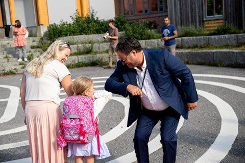 SKOLESTART: Slik så det ut da Dyrløkkeåsen skole tok i mot førsteklassingene i 2020.