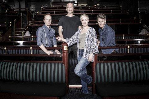 NORSK SUKSESS-KVARTETT: Come Shine spiller på Tynset fredag kveld. Foto: Egil Hansen