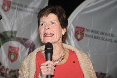 GJENVALGT: Merete Furuberg ble gjenvalgt som leder i Norsk Bonde- og Småbrukarlag på landsmøtet i 2017.