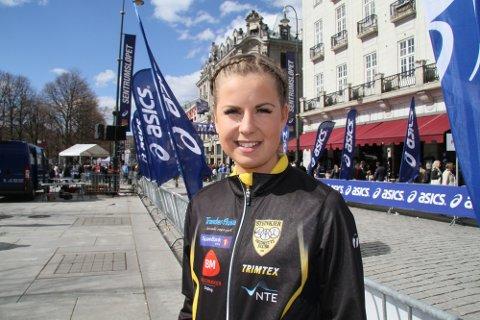 SATSER: Ingeborg Nordaune satser hardt på løpingen. To skadeavbrekk har imidlertid skapt trøbbel for Ålen-jenta som løp bra under Sentrumsløpet.
