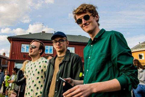 DAB: DAB består av Trygve Joachim Andersen (t.v.), Hallvard Løberg Nävall og Øyvind Hånes. De ga ut singel i sommer. Fredag spiller de på Nilsenhjørnet.