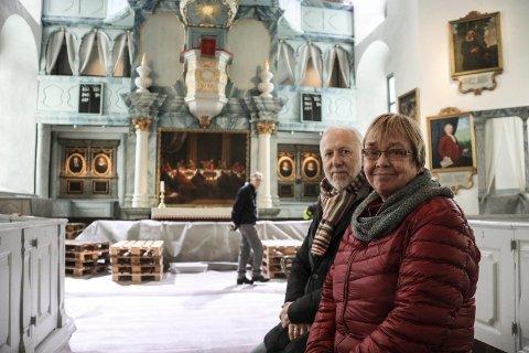 JUBILEUMSÅR: De to ansatte i Vinterfestspill i Bergstaden, Bjørn Nessjø og Kari Kluge er snart klare for Vinterfestspill i Bergstaden og 20-årsjubileum.