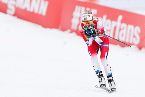 Nummer to: Therese Johaug ble spurtslått i Quebec. Her fra suksessdagene i Seefeld. Foto: Fredrik Hagen / NTB scanpix